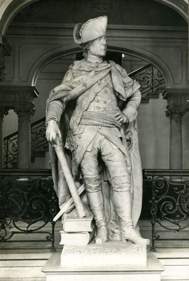 Friedrich der Grosse - Marmorstatue in Stettin vor dem Krieg