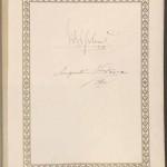Unterschrift des Kaisers Wilhelm II und Frau