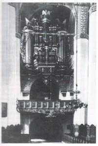Die Orgel der Jakobikirche vor dem Krieg