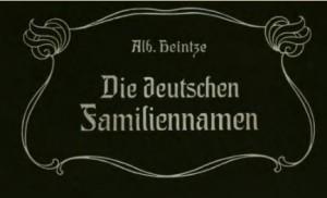Deckblatt: Die deutschen Familiennamen, 2. Auflage