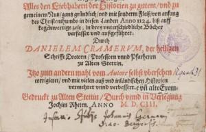 Widmung von Johannes Germann
