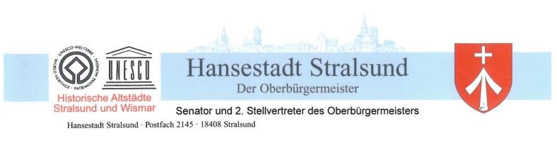 Briefkopf Stralsund