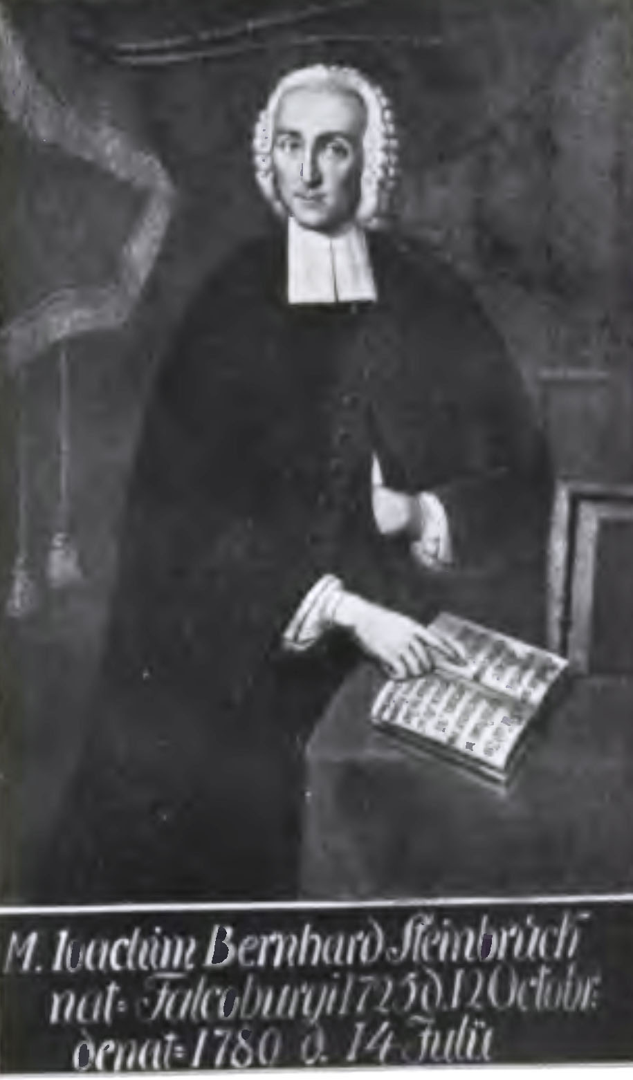 Porträt von Joachim Bernhard Steinbrück (1729 bis 1785), das sich in der Stettiner St. Peter und Paulskirche befand.
