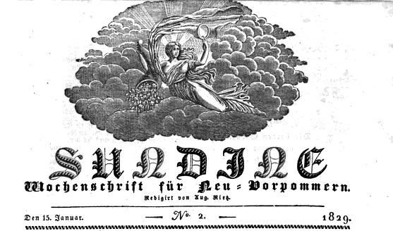 Sundine - Wochenschrift für Neu-Vorpommern