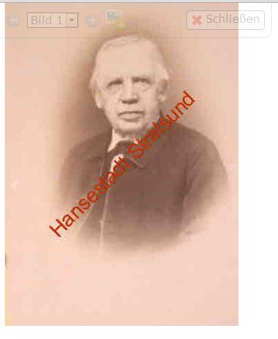 Dr. Prof. Ernst Zober. Direktor des Gymnasiums und Leiter der Stadtbücherei Screenshot online-suche Stadtarchiv Stralsund