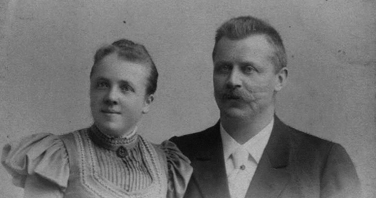 Katharina geb. Wegener und Friedrich Helbing um 1900 Foto:privat