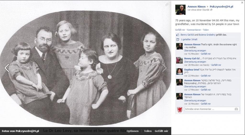 Posting auf der Facebookseite von Bad Polzin