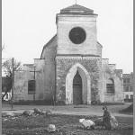 Kirche nach dem Krieg ohne Turm