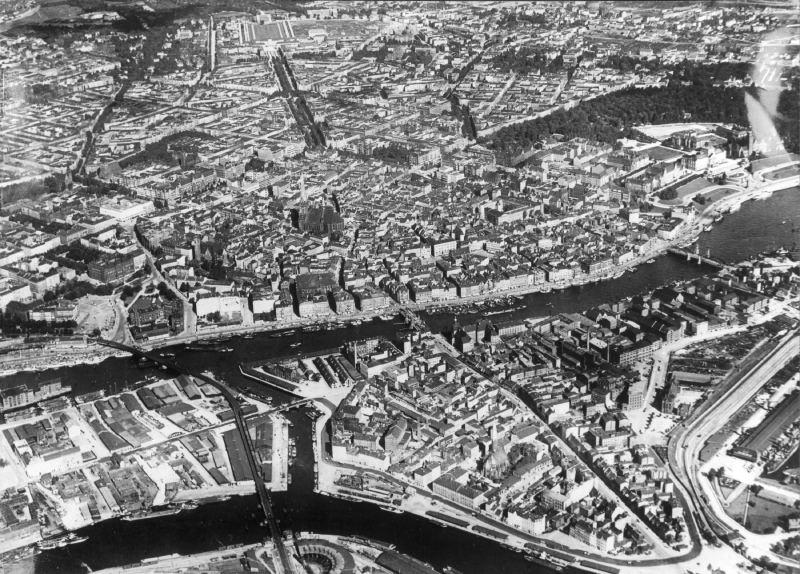 Luftbild Stettin ca 1930