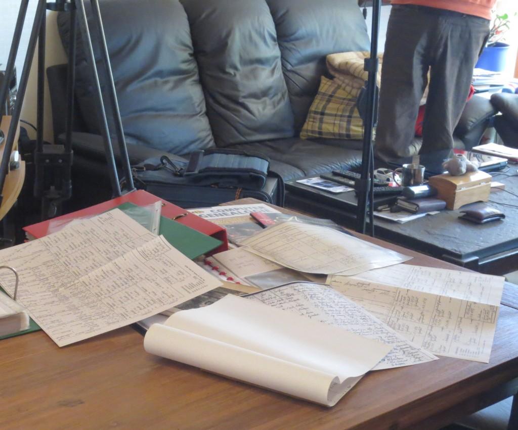 Kreatives Chaos nach dem Dreh.. :-)