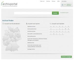 Screenshot Archivportal-D