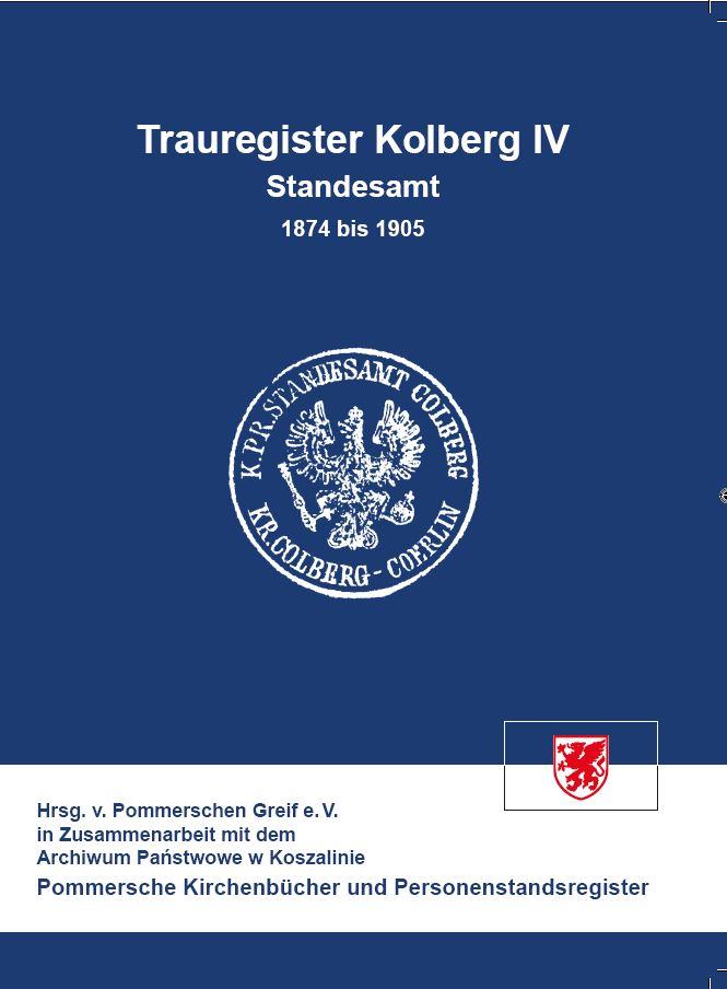 Trauregister Kolberg IV