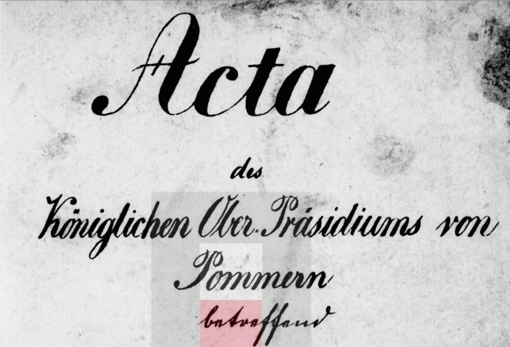 Acta des königlichen Ober-präsidiums