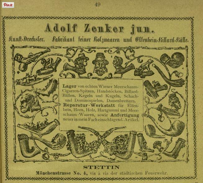 Werbung aus Geschäftsempfehler 1876