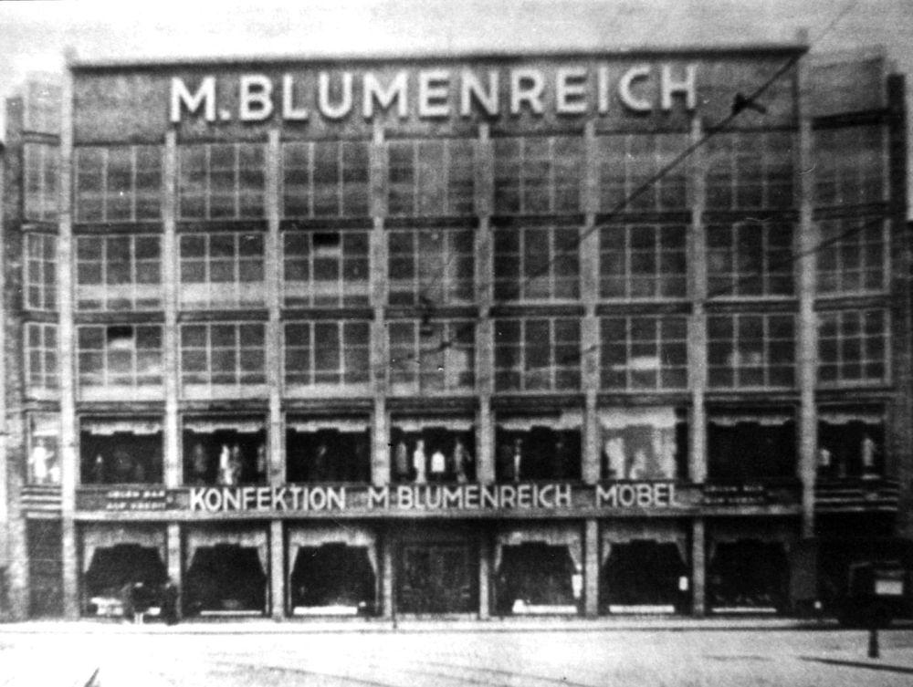 Möbel- und Konfektionshaus Blumenreich, Gr. Wollweberstr. 29-30
