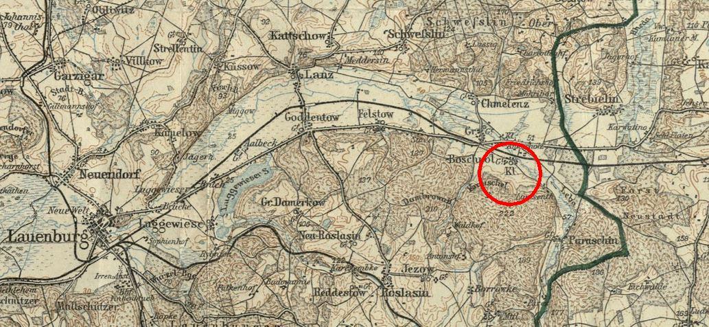 Klein Boschpol auf einer Karte  ca 1912