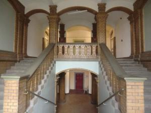 Im Treppenhaus des Landesarchives Greifswald