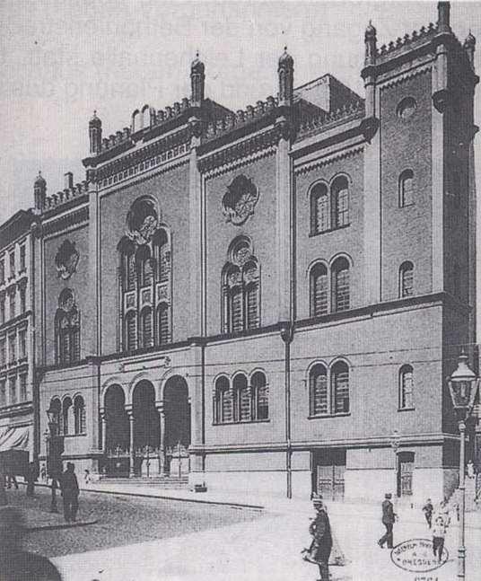Die Synagoge in Stettin