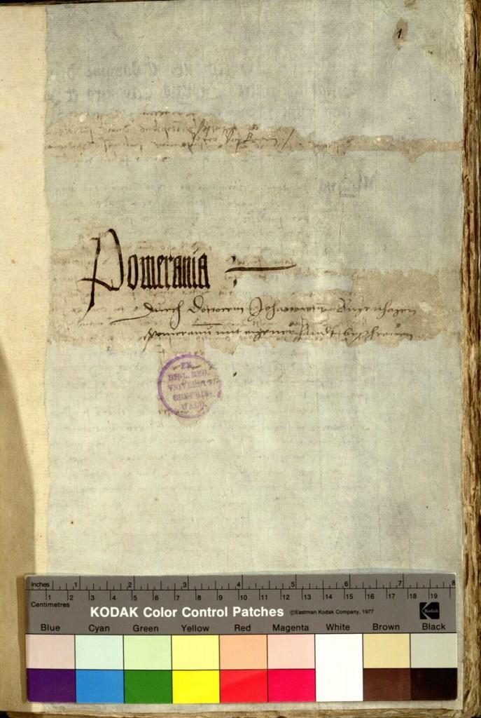 Titelblatt der Pomeraniae von Bugenhagen 1518