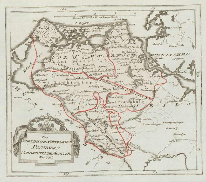 Des Schwedischen Herzogthums Pommern Nordwestliche Aemter