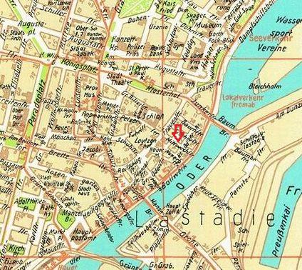 Kartenausschnitt Stettiner Altstadt, Foto via sedina.pl, bearbeitet