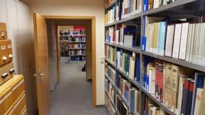 Blick aus dem Archivraum