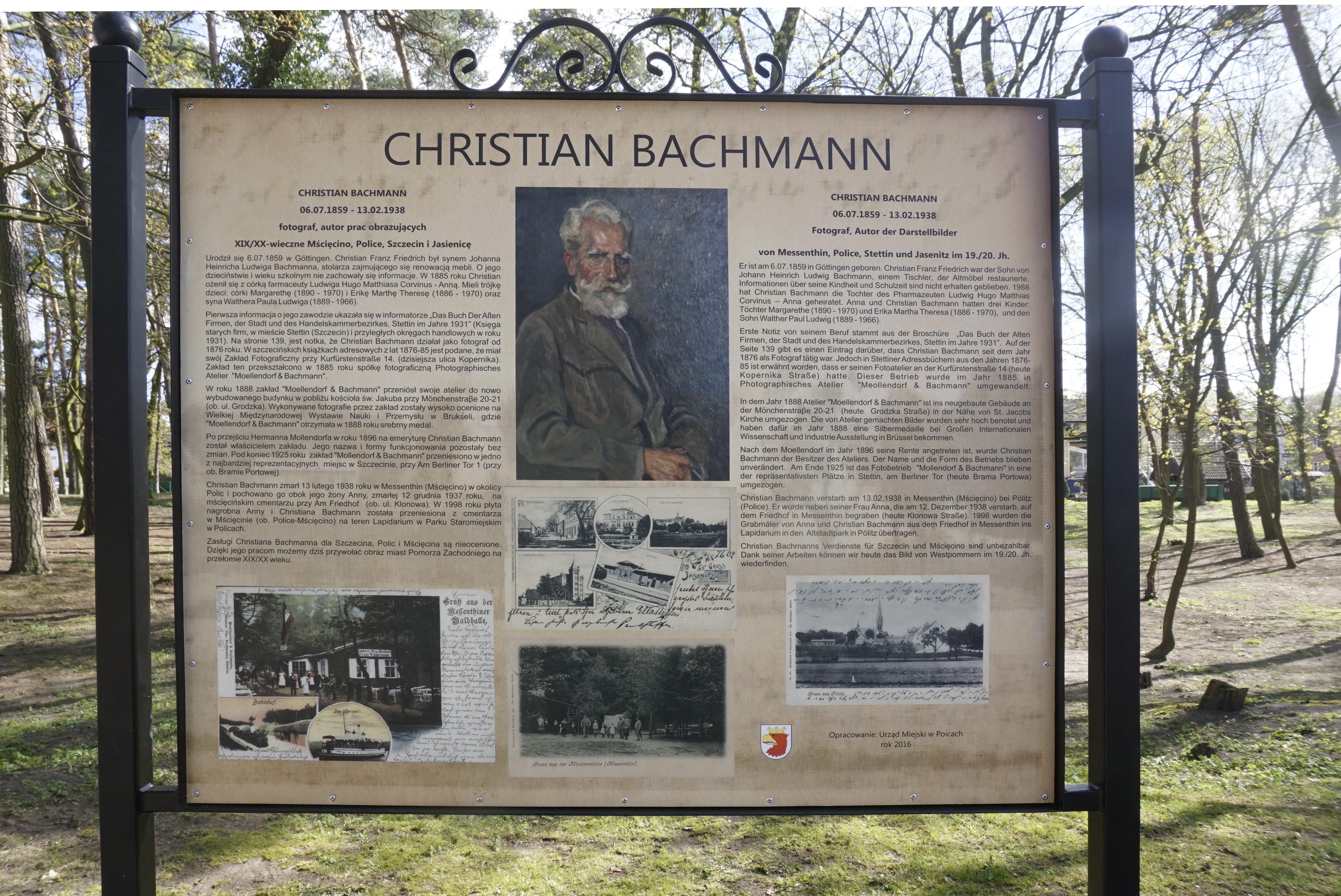 Gedenktafel Bachmann