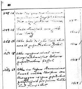 Textbeispiel aus dem originalen Findbuch