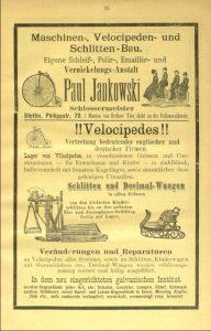 Werbung Paul Jankowski 1892